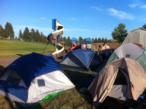 RAGBRAI Camping in Forest City, IA